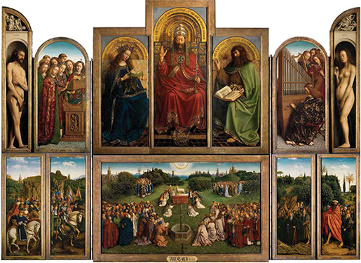 Adoration of the Lamb by the Van Eyck brothers