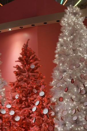 The pink and white trees at the Museum of Ice Cream (2018)