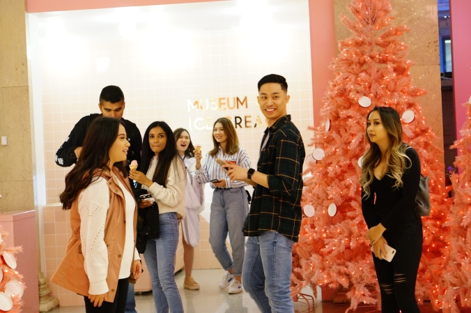 The happy crowd at the Museum of Ice Cream (2018)