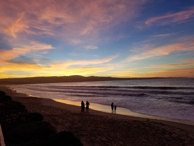 Sunset at the Monterey Tides Hotel, Monterey, CA (11-3-18)