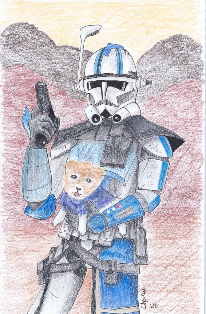 Arc Trooper Five and Boo the Dog