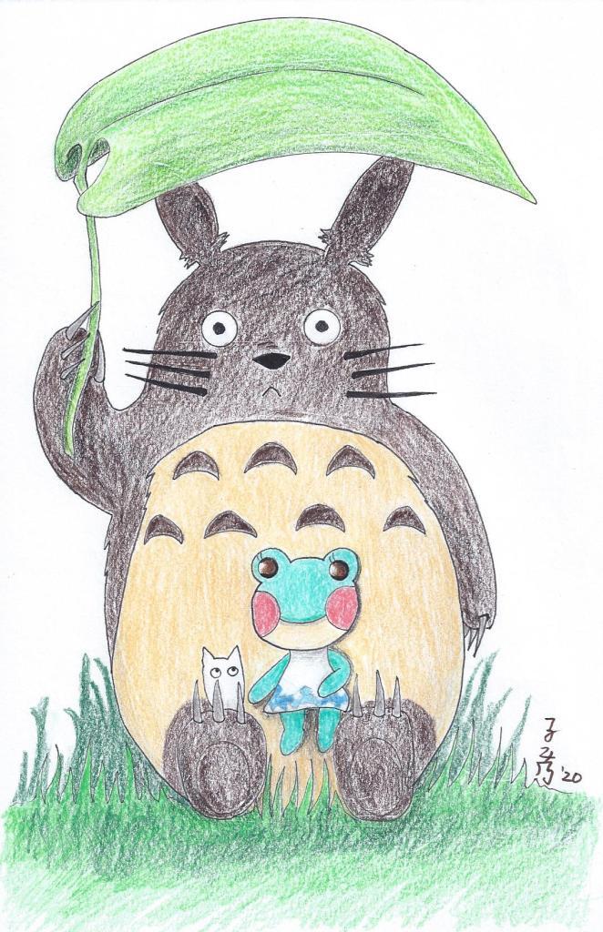 Totoro (Studio Ghibli) x Lily (Animal Crossings: New Horizons) 7-2020