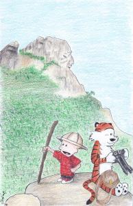 Calvin and Hobbes go exploring 8-2020
